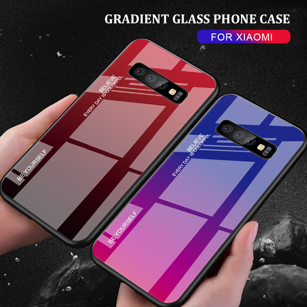 For Samsung Galaxy S10 Plus S10 Lite Case Gradient Tempered Glass Phone Cases For Samsung S10 S9 S8 Plus Note 9 Note 8 Cover     (1)