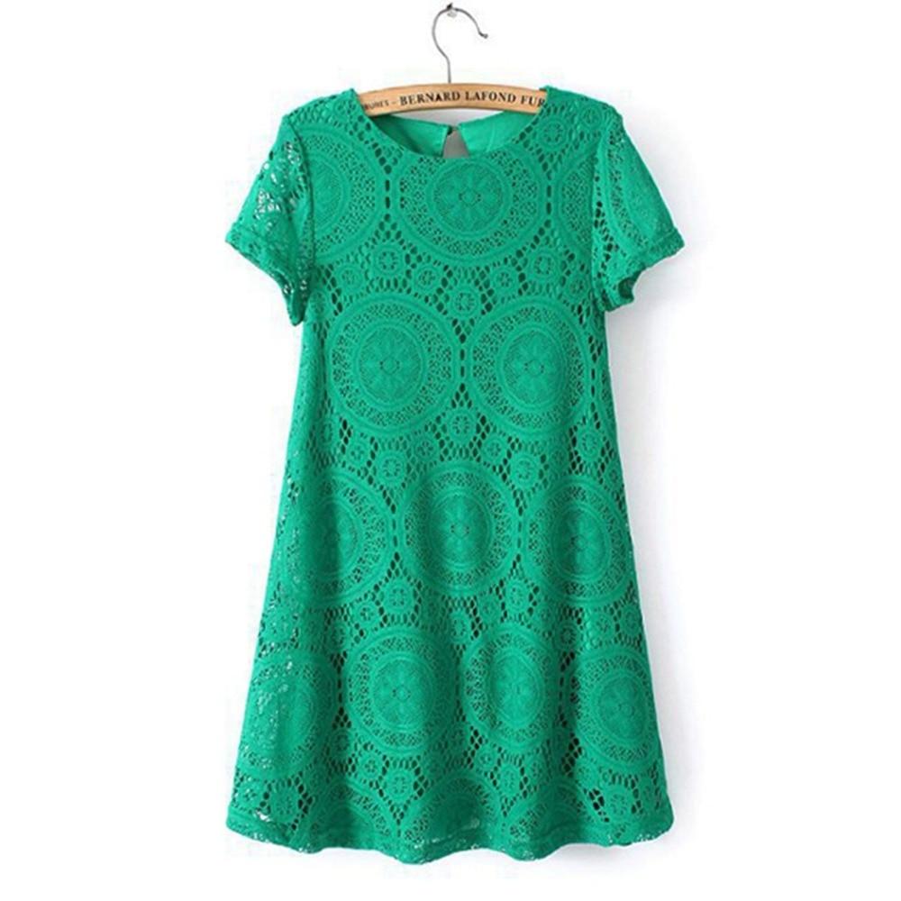 c7df9099bc Encaje dropshipping vestido vestidos femenino mujer vestido de verano manga  corta o-cuello más tamaño Encaje Vestidos vestido de renda