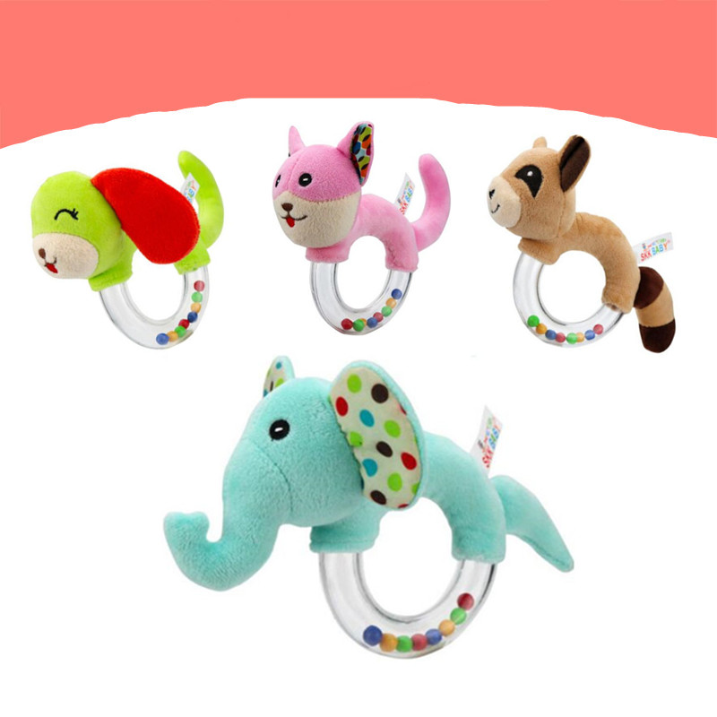 New Design Baby Rattle Toys Animal Hand Bells Plush Baby Toy High Quality Newbron Gift Animal Style Free Shipping BF15