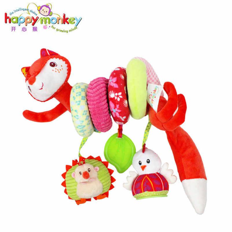 Bebé bebé animales lindos sonajero cama cuna coche colgante cochecito giratorios de felpa juguetes mordedor regalo de desarrollo sonajeros juguete