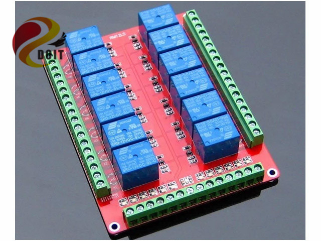 Official DOIT 12 Channel Relay Module Low Level Trigger 5V 12V 24V ROBOT raspberry PI R3 DIY RC Toy Development Board Beaglebone diy 24 national flag patterns electric paper airplane module toy multicolored