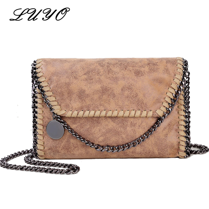 Luyo Fashion Chain Small Women Leather Messenger Shoulder Bags Designer Handbags High Quality Stella Crossbody Evening Stella 2017 hot fashion women bags 3d diamond shape shoulder chain lady girl messenger small crossbody satchel evening zipper hangbags