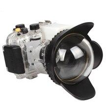 Meikon Carcasa A Prueba de agua Carcasa de La Cámara para Canon G15 + 200mm Gran Angular ojo de Pez Lente Cúpula Puerto (67mm Ronda)