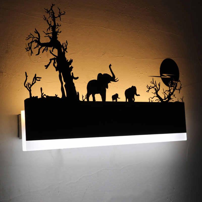 Черный современный светодиодный настенный светильник для гостиной, спальни, ванной комнаты, светодиодный настенный светильник, теплый и холодный белый свет