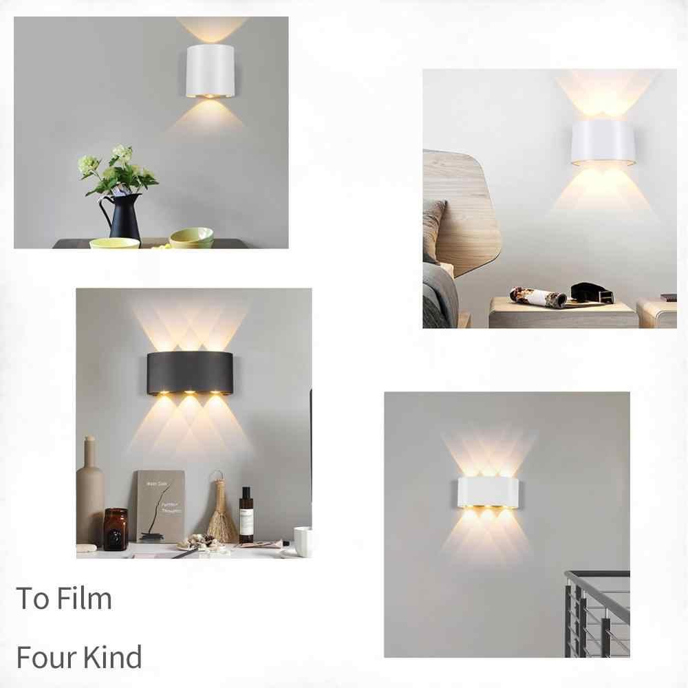 מודרני Led מנורת קיר 2W 4W 6W קיר פמוטים מקורה מדרגות אור מתקן מיטת לופט סלון עד למטה בית מסדרון Lampada