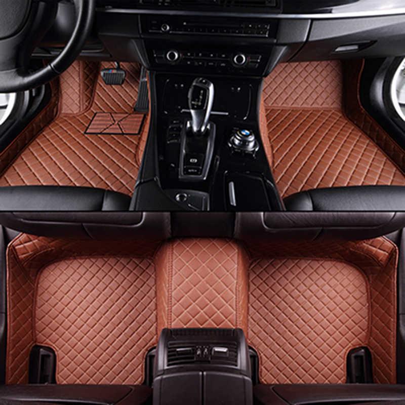 カスタム車のフロアマットのためのbmwすべてモデルe30 e34 e36 e39 e46 e60 e90 f10 f30 x3 x5 x6カーアクセサリー自動車スタイリングフロアマット
