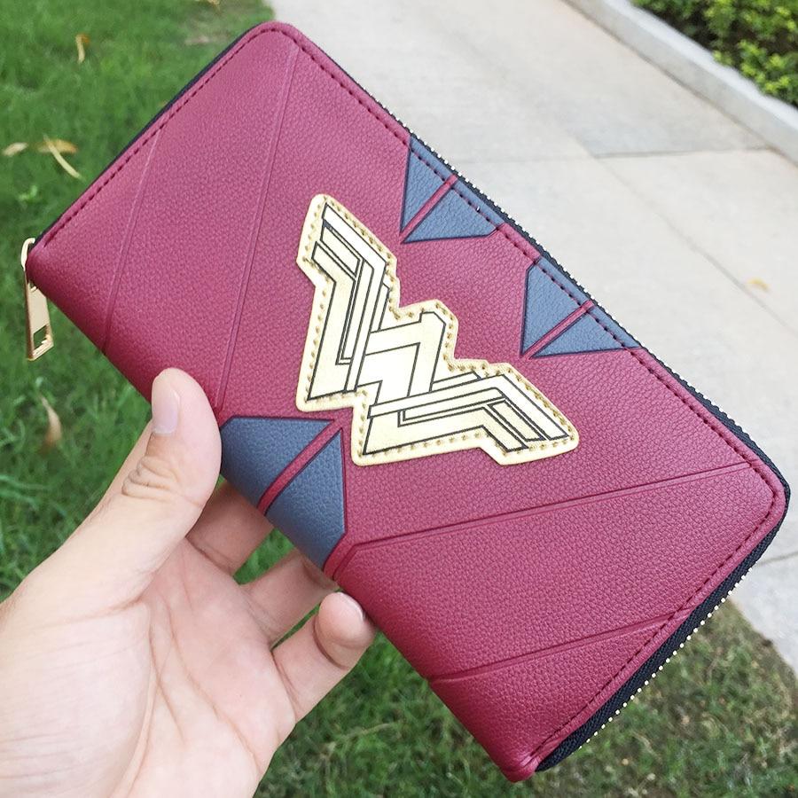 Wonder woman  Printed Long Coins Wallet Girl Woman Unisex Handbag Zipper Money Cards  Purse