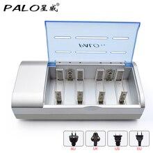 Commercio allingrosso PALO Multi uso indicatore LED Intelligente della batteria caricabatterie per NI MH NI CD AA/AAA/SC/C/ d/9 V batteria di formato 6F22 Caricatore