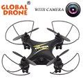 Global Drone GW009C 4CH 2.4 Г Вертолет-На-Дистанционное Управление Карманные Drone Quadcopter RC Беспилотный Мини радио-Контроля-Вертолеты