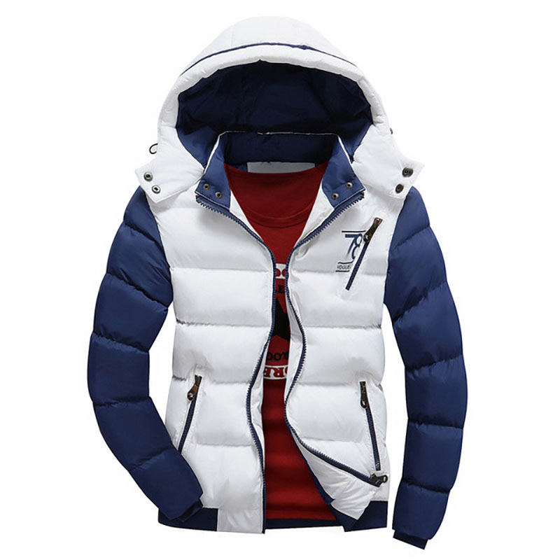 2018 Winter New Arrival Mens Jacket Casual Cotton-Padded Hoodies Coats Zipper Windbreak Streetwear Body Warmer Outwear XCZ28