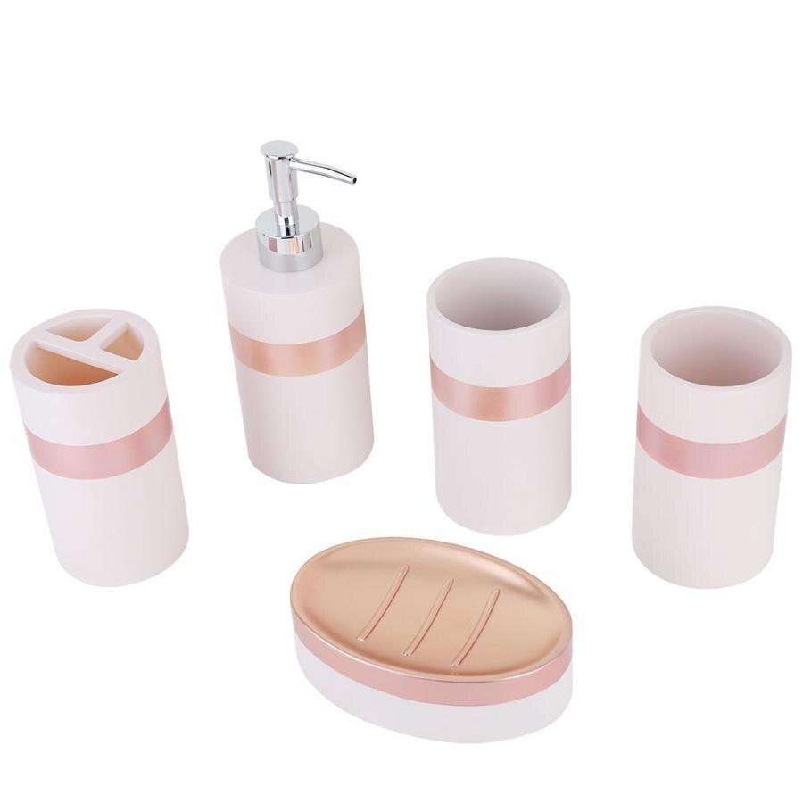 Corner Shelf Wall Shelves 5Pcs Bathroom Accessories Bath Sets Lotion Dispenser Bath Resin Cup Toothbrush Holder Shampoo Holder Under-cabinet lighting