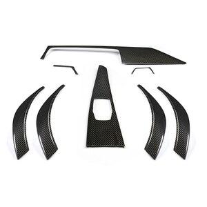 Image 4 - Внутренняя отделка для BMW F30 F31 F36 F32 M4, накладка на приборную панель для bmw f30, углеродное волокно, только для стайлинга автомобиля, 2013 ON LHD
