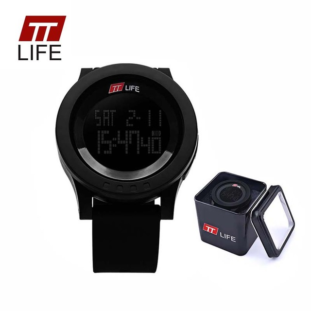 TTLIFE Brand Electronic Mens Watches Digital Outdoor Waterproof Swim Watch Sport Military Army EL Lighting Wrist Watch With Box