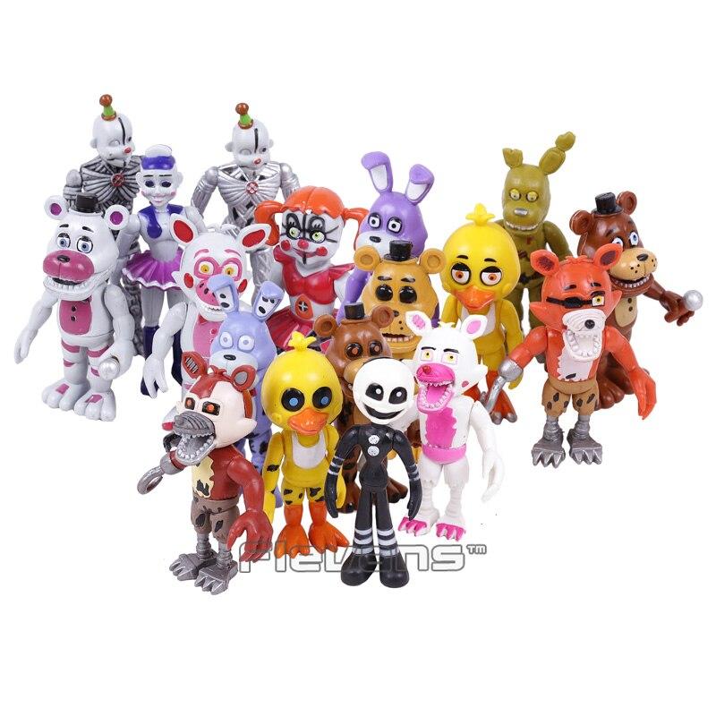 Five Nights at Freddy's Bonnie Foxy Freddy Fazbear Bear Toys PVC Action Figures 18pcs/set