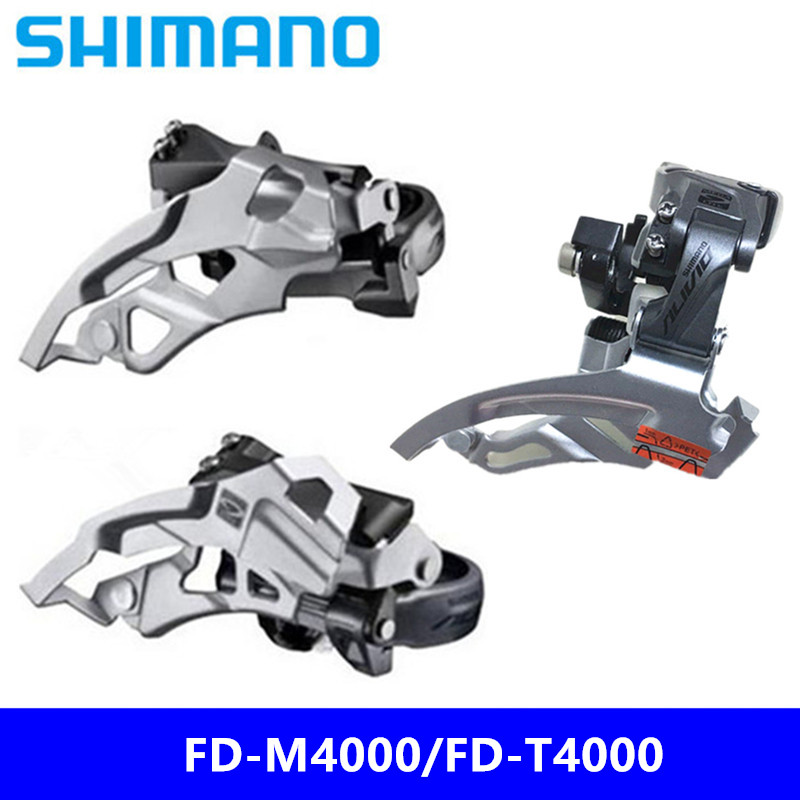 Shimano Alivio Fd M4000 3s Speed 42t Max Mtb Front Derailleur Mtb Mountain Bicycle Derailleurs Parts For 3x9s 27s Speed Non-Ironing Bicycle Derailleur
