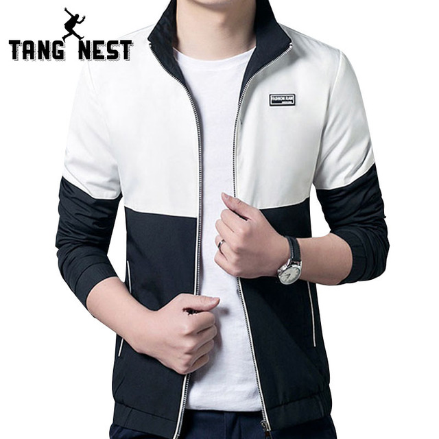 Spring & Autumn 2017 Hot Selling 4 Colors Patchwork Men's Casual Jackets Fashionable Male Slim Fit Asian Size Jackets MWJ1968