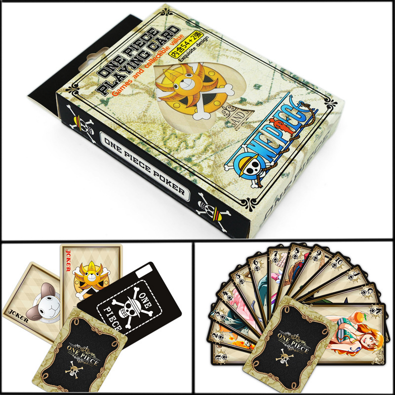 One Piece OP Poker Cards Entertainment for Party Anime Comics Character Collector's Edition Playing Cards anime one piece devil fruit fifth edition fruit line