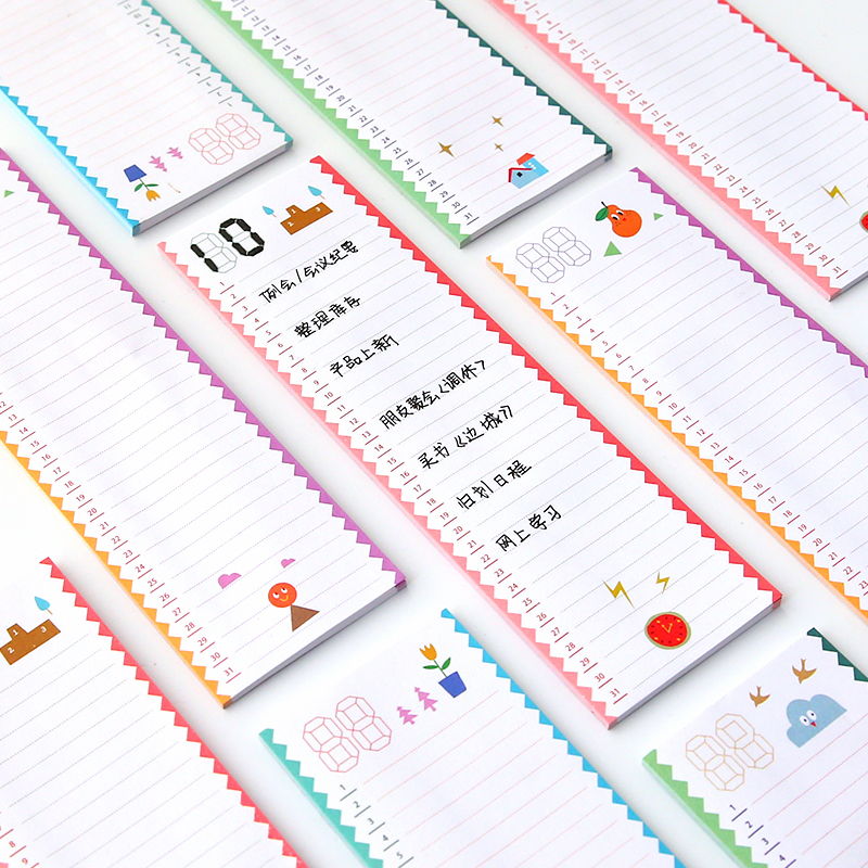 30sheets/pack Monthly Weekly Daily Planner Sticky Notes Stickers Diary Stamps To Do List Memo Pad