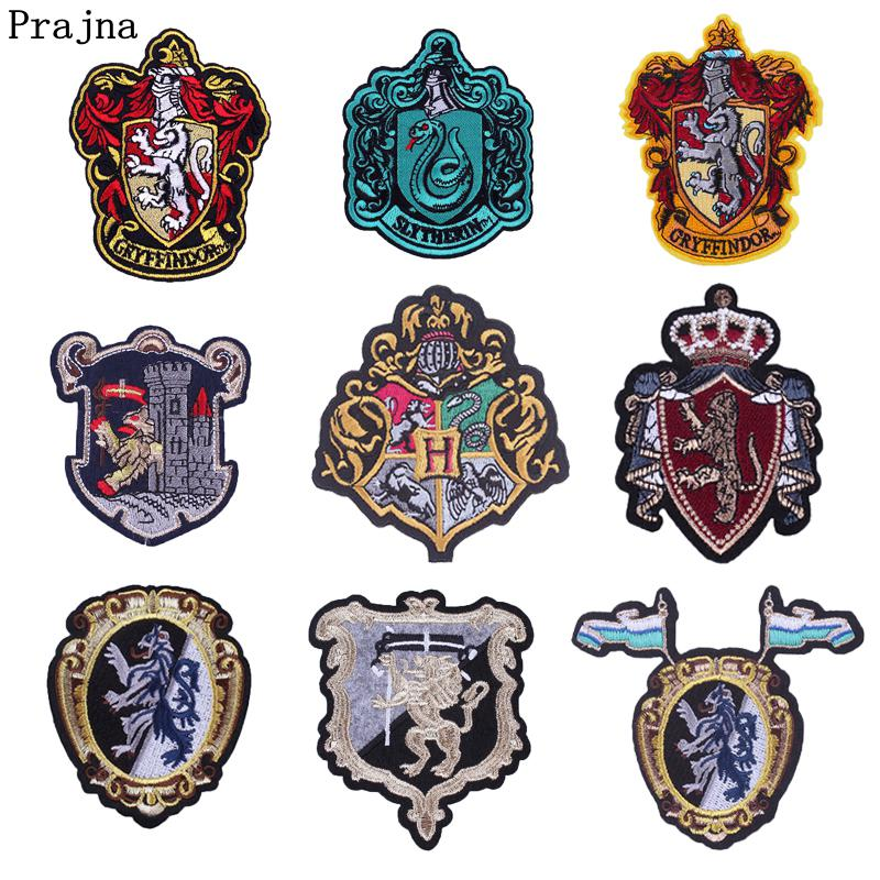 Prajna Harry Potter Embroidered Badges Alien Lion Snake Eagle Iron On Patch College Clothing Ornaments Clown Logo Biker Jeans