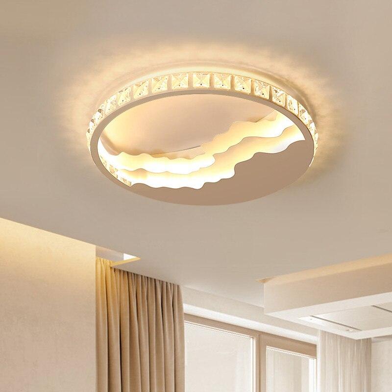 Créativité moderne nouveauté nordique littoral LED plafonnier rond en métal pour salon lampe chambre luminaires E27
