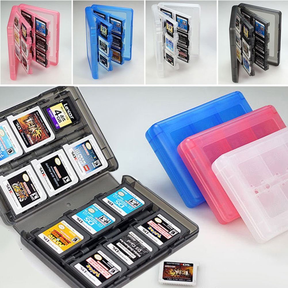 28 In 1 Plastic Game Card Case Portable Hard Shell Anti Dust Box Storage Shockproof Travel Holder Protective For Nintendo DS 3DS