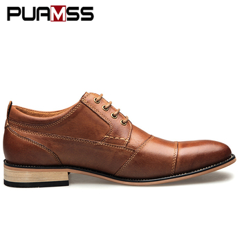 Brand Men Shoes Top Quality Oxfords British Style Men Genuine Leather Dress Shoes Business Formal Shoes Men Flats Plus Size 50 1