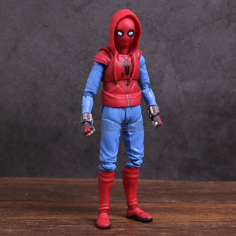 SHF S.H.Figuarts Spider Man Homecoming Spiderman Home Made Suit Ver. PVC Action Figure Collectible Model Toy spiderman creator x creator the amazing spider man pvc figure collectible model toy
