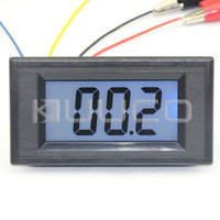 0-200 Ohms Meters AC/DC 8-12V Blue Backlight LCD Display Resistance Monitor Meter Impedance Tester Panel Meter #100086