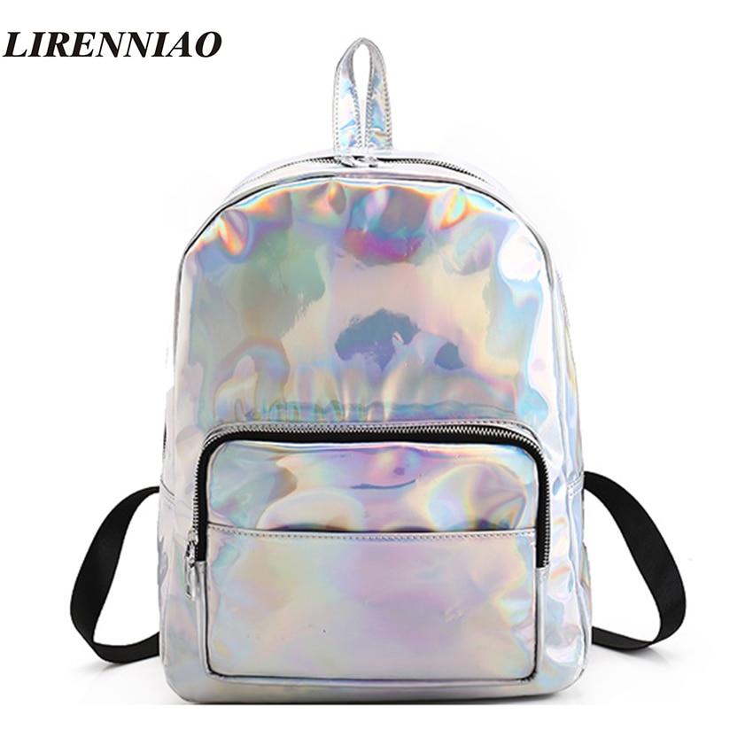 Fashion Hologram Laser Backpack Luxury Women Backpack Hot Sale Backpacks For Teenage Girls Silver Women Bag