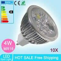 10 個新到着 Led 電球ランプ 60 度クリー電源 12V Led 4 ワットスポットライト led 電球ダウンライト照明コールド/ウォームホワイト