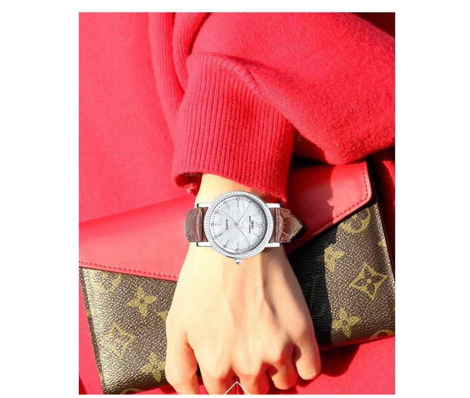para mulher luxo cristal diamante escudo relógios