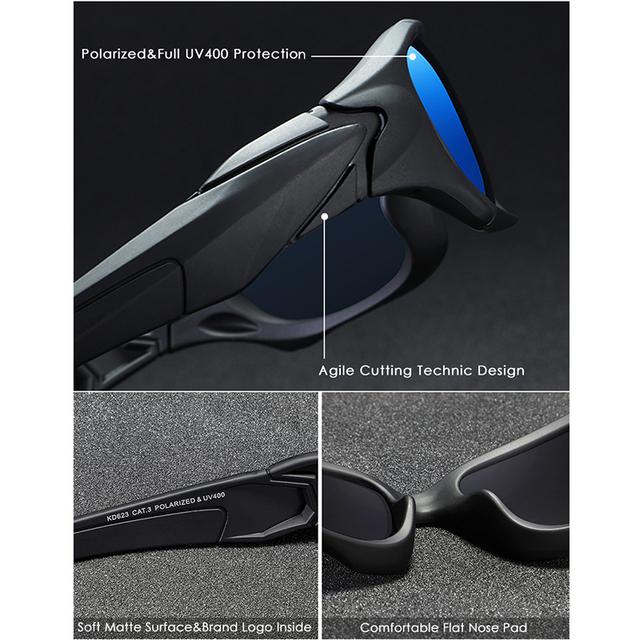Tu deporte al aire libre con gafas de sol polarizadas curva de marco de estrés-resistente