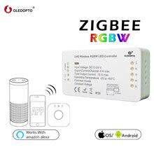 G светодиодный OPTO ZIGBEE мост светодиодный контроллер RGBW диммер контроллер полосы DC12/24 В comptible с светодиодный эхо zll стандарт светодиодный