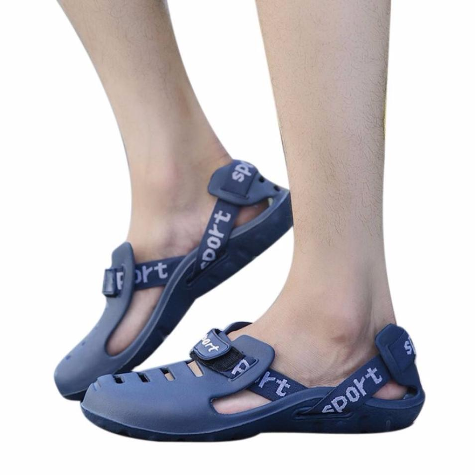 Professional Sale Sandalias Hombre Real 2019 New Male Eva Cave Shoes Mens Clog Slipper High Quality Breathable Clogs Mens Sandals Erkek Ayakkabi Shoes