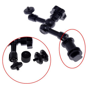 """Image 2 - Mobile Rolling Sliding Dolly 7"""" Magic Arm Extendable Self Portrait Handheld Monopod With Attached Tripod Mount For GoPro 7"""