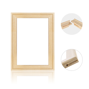DIY Nature Pine Solid Wooden Frame With Accessories Sturdy Inner Picture Photo Frames for Canvas Wall Art Diamond Oil Paintings