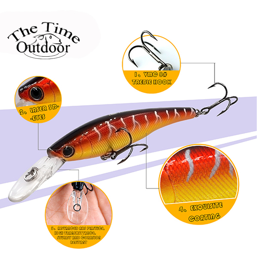 New Floating Jerkbait Minnow Bait Fishing Lure Hard Lure isca artificial Bait Plastic Wobble Lure para pesca 70mm/6.7g