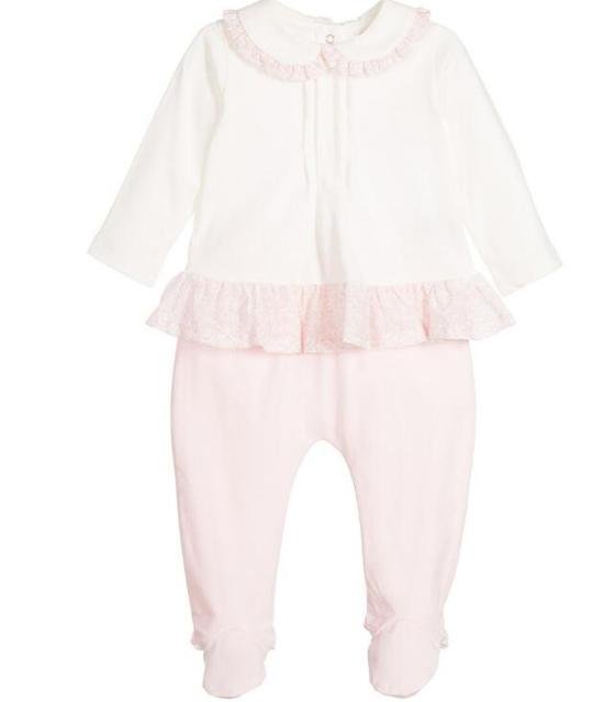 Nuevo Niñas mameluco del bebé traje de Bebé ropa de la Subida de La Manera princesa jumper Romper Paquete pies pantalones al por mayor