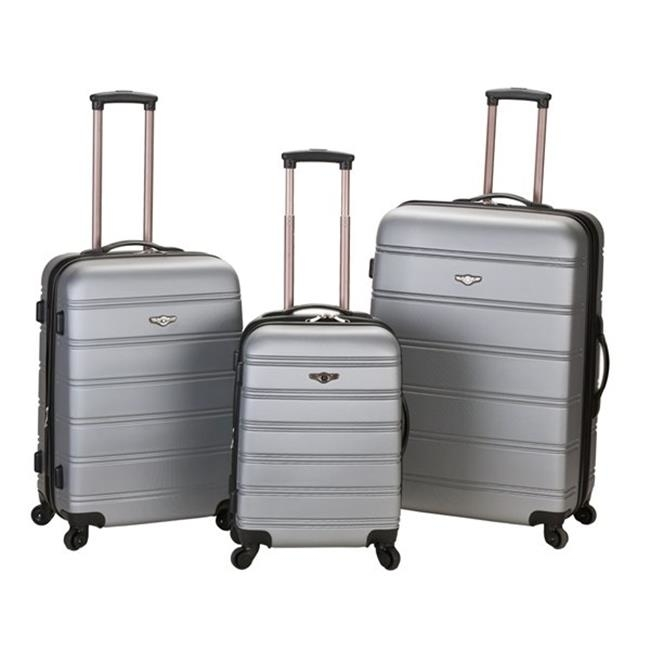 ROCKLAND F160-BLACK MELBOURNE 3 PC ABS LUGGAGE SET migos melbourne