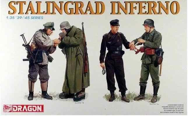 Дракон немецкий Сталинград Инферно 1/35 солдат фигурки модель комплект
