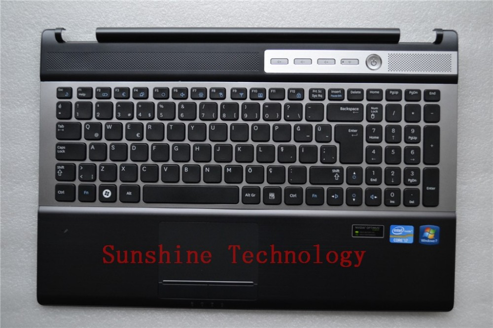 UK layout new laptop keyboard with touchpad palmrest for SAMSUNG RF510 RF511 new notebook laptop keyboard for samsung np rf510 rf511 russian spanish layout