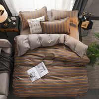 Classic bedding set 6 size grey blue flower bed linen 4pcs/set duvet cover set Pastoral bed sheet AB side duvet cover 2019 bed