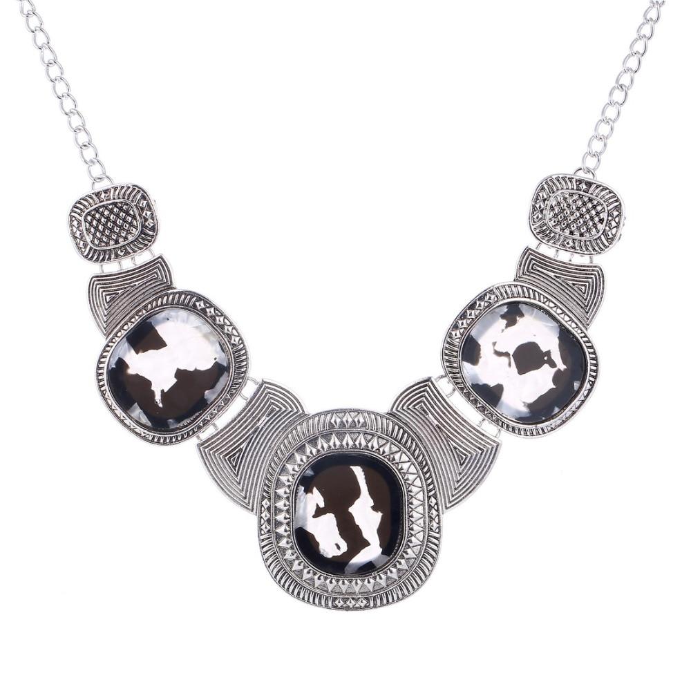 f365bf02d5f5 Declaración choker collar Collier Femme collares y colgantes geométricos  oro plata cadena collares para las mujeres Accesorios