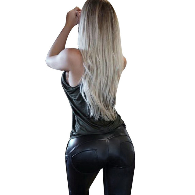 Faux Leather Leggings Sexy Women Leggins Thin Black Leggings Calzas Mujer Leggins Leggings Plus Size Leggins Push Up #OR