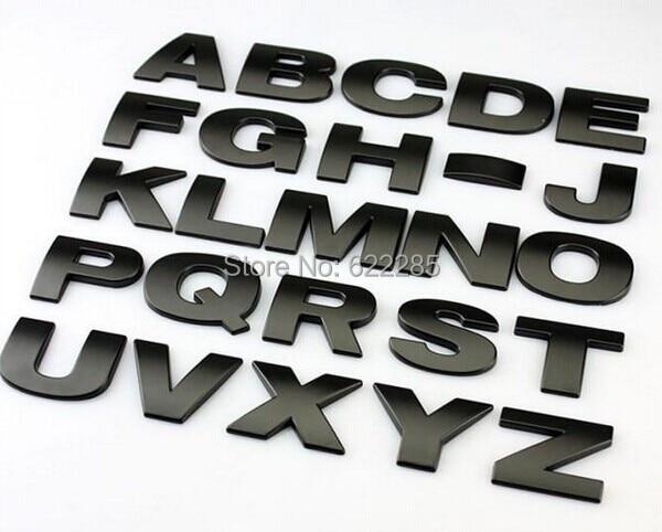10 шт. / Лот 3D металеві букви емблема - Зовнішні аксесуари для автомобілів
