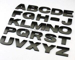 10 pieces/lot 3D metal Letters emblem Digital Number Chrome DIY Car styling Badge Logo Automobile Stickers Parking Top quality
