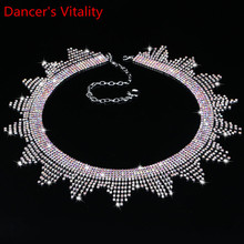 Nouveau bijoux fantaisie danse du ventre cristal strass danse du ventre ceinture vague frange taille chaîne