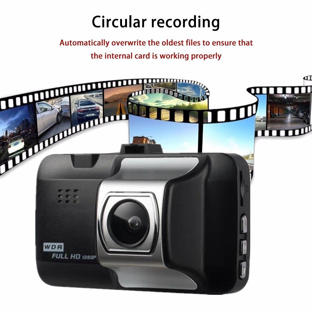 3.0 Inch LCD Screen Car DVR 1080P HD Car Camera Driving Recorder 140 Wide Angle Vehicle Dash Camera G-Sensor Cyclic Recording