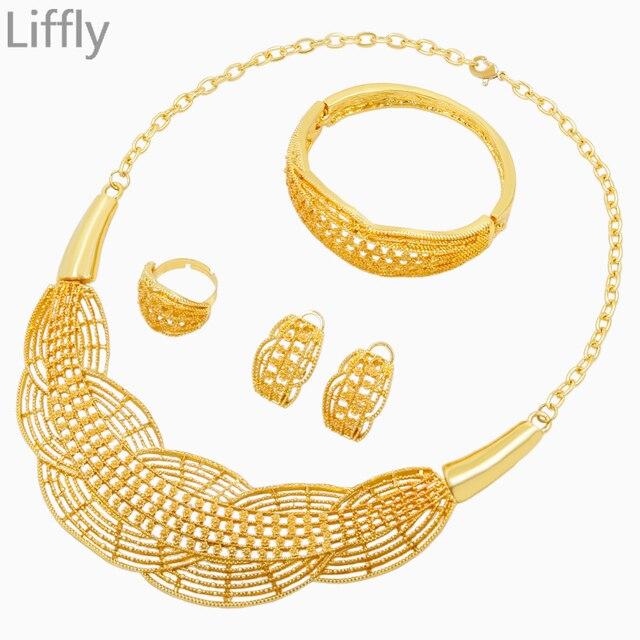Italian Charm Women Fashion Creative Design Necklace 24 Gold Jewelry