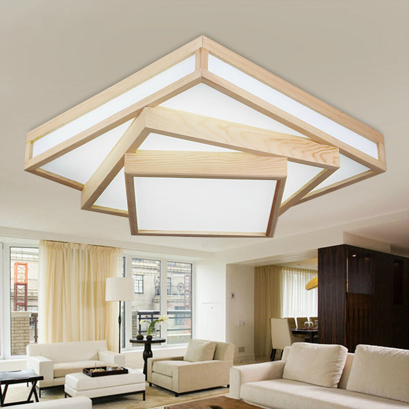 Modern creative OAK dining room LED ceiling